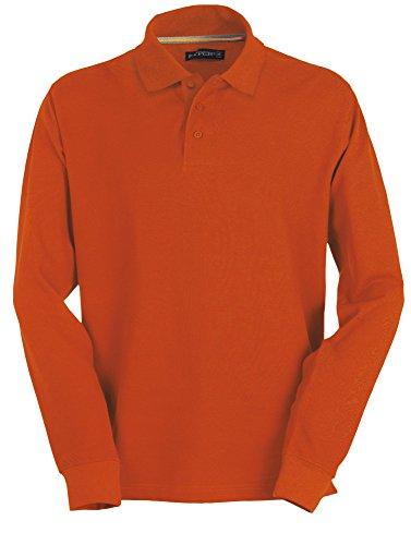 Payper - Polo de manga larga para hombre, 100% algodón, 3 botones, para hombre