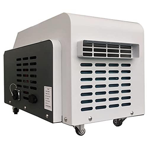 Aire acondicionado portátil Mini Aire acondicionado interior y exterior Caliente y frío Aire acondicionado pequeño móvil para autocaravana Cabina Dormitorio Junta Casa Tienda de campaña,Blanco,12V