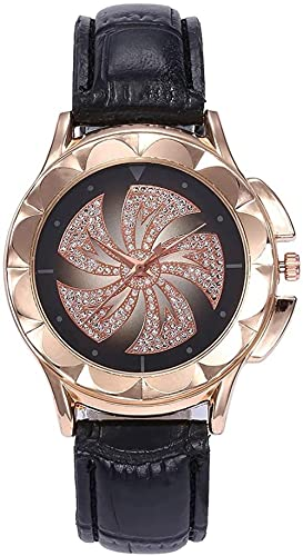 JZDH Reloj de Pulsera, Reloj de cinturón Impreso Grande Redondo de 35 mm. Reloj de Moda de Moda de Moda de Molino de Viento