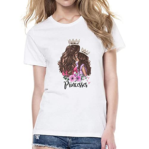 maozuzyy Camiseta De Manga Corta T-Shirt Camiseta para Mujer Ropa De Moda Camiseta Blanca Regalo para Mamá Camiseta para Mujer Casual Mom T-Shirt-9_L
