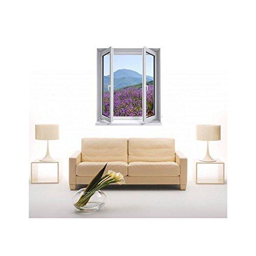 TATOUTEX Adesivi Trompe l' oeil Finestra la Provence, L 100cm x H 120cm