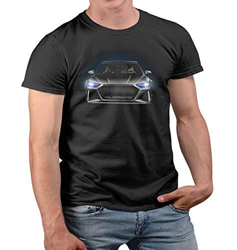 Nuts Shirts - RS6 Quattro Angel Eyes Der Herr Der Ringe Tshirt 40 Geburtstag männer lustig Geschenke für männer Herren Tshirt Prime Quality Kurzarm (Schwarz, S)