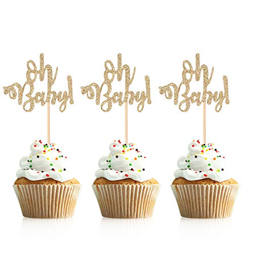 Donoter Glitter Oh Baby Cupcake Topper