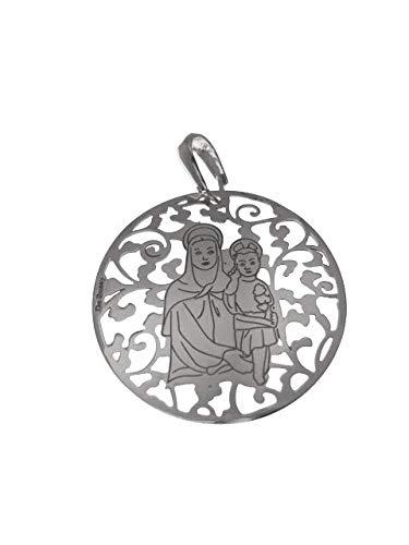 Medalla Virgen del Amor Hermoso en Plata de Ley