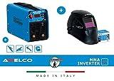 AWELCO SALDATRICE INVERTER 200 A AMP mod. ARC 250 + CASCO ELMETTO DI PROTEZIONE