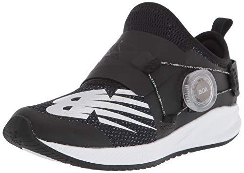 New Balance child Fuelcore Reveal Boa V2 Alternative Closure Running Shoe, Black/White, 12 Little Kid US