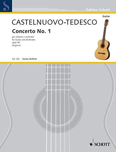 Concerto No. 1 in D: op. 99. Gitarre und Orchester. Klavierauszug mit Solostimme. (Edition Schott)