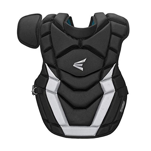 EASTON GAMETIME Baseball Catchers Chest Protector | Intermediate | Black | 2020 | NOCSAE Commotio Cordis Foam | Impact AB Foam For Rebound Control | BIODRI Liner | 4 Point Strap System + Superior Fit