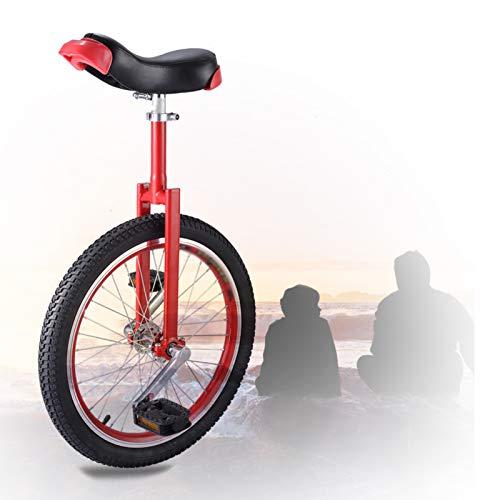 GAOYUY Monociclo De Rueda De 16/18/20 Pulgadas, Monociclo Freestyle Unisex Marco De Acero Fuerte Sillín Ergonómico Contorneado para Principiantes (Color : Red, Size : 18 Inch)