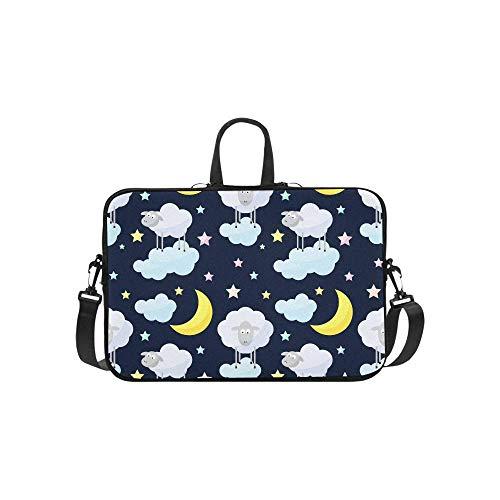 15.6″Durable Hombro Mensajero Bolsa maletín PC Patrón Infantil de Buenas Noches para Dormir Moda Impermeable Ordenador Portátil/portátil/Tablets