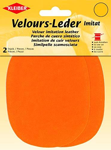 Kleiber 12.5 x 10 cm Patchs à Coudre Simili Daim pour Genoux/Coudes ovales, Abricot
