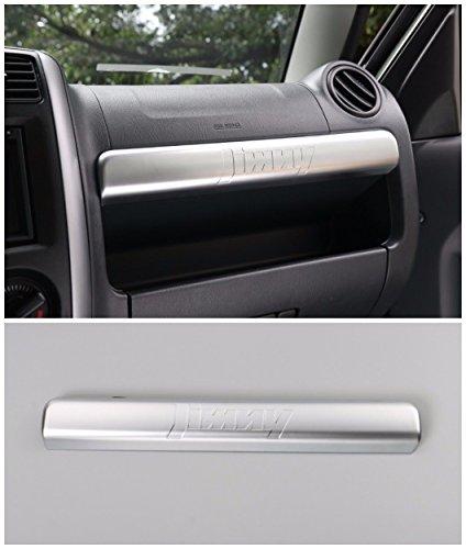 Auto Beifahrer Aufbewahrungsbox Ablagefach Deckel dekorative Zierleiste Abdeckung Innenausstattung Auto Gadget für Suzuki Jimny 2012-2015, Kunststoff ABS matt/1 Stück