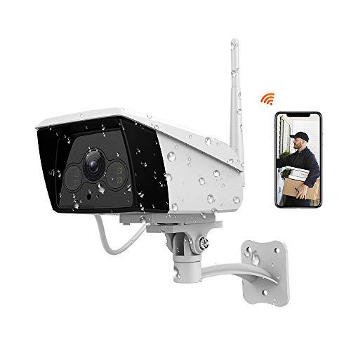 FHD 1080P Telecamera IP Esterna Senza Fili, Videocamera di Sorveglianza WiFi con IP66 Impermeabile, Rilevazione Movimento, Visione Notturna, 2 Vie Audio, Compatibile con iOS Android