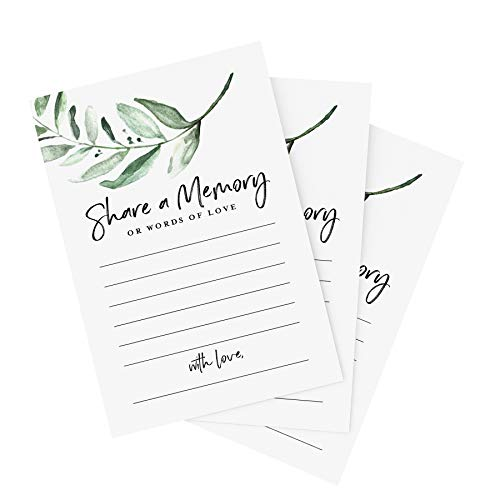 """Bliss Collections Share a Memory Cards, Pack of 50, 4"""" x 6"""" Cards for Wedding, Shower, Birthday, Funeral, Celebration of Life, Retirement, Graduation, Going Away, Life Memories - Made in The USA"""