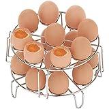 Egg Steamer Rack, 2 Pack Stackable Egg Rack fit 6 & 8 qt Instant Pot Accessories Air Fryer, Cook 18 Eggs, 304 Stainless Steel Kitchen Vegetable Trivet Steaming Rack Holder for Pressure Cooker
