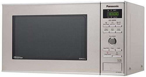 Panasonic NN-GD37HSGTG Mikrowelle mit Grill (1000 Watt, Inverter Mikrowelle, 23 Liter) edelstahl-schwarz
