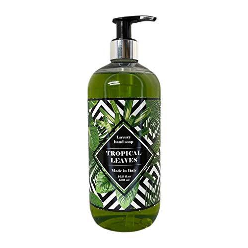 HOPIFICIO – Luxury Liquid Hand Soap: Hypoallergenic, Sulfate-free, Regenerating, Moisturizing & Gently Cleansing Liquid Soap, 16.9 Fl Oz (Tropical Leaves)