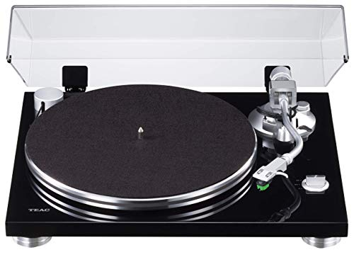 Teac TN-3B Plattenspieler mit Riemenantrieb (MM-Phono-EQ-Verstärker integriert, digitaler USB Ausgang, SAEC Tonarm, 33 & 45 RPM Geschwindigkeit), Schwarz