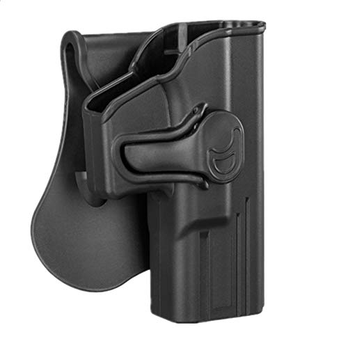 CYTAC Glock 19 Holsters, OWB Holster for Glock 19 19X 23 32 Gen 1 2 3 4, Glock 19 Gen 5, Tactical Outside The Waistband Polymer Paddle Holster -RH