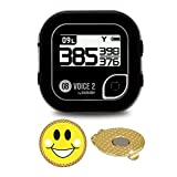 AMBA7 Golf Buddy Voice 2 Golf GPS/Rangefinder Bundle with Ball Marker and Magnetic
