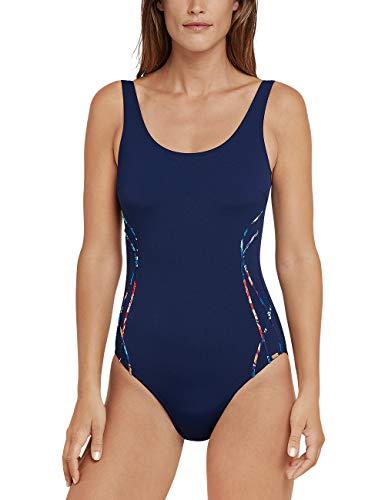 Schiesser Damen Mix & Match Badeanzug, Blau (Admiral 801), 42 (Herstellergröße: 042D)