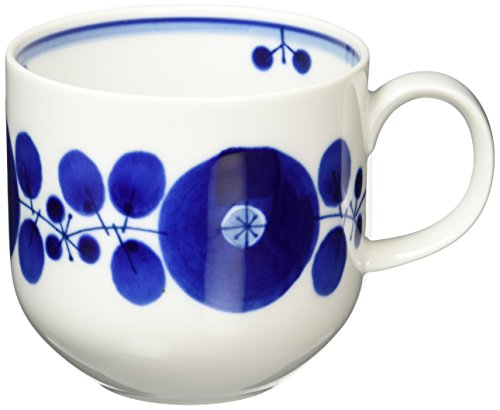 白山陶器 マグ 青 ブルーム リース 約8.7×8.2cm 360ml 波佐見焼 日本製