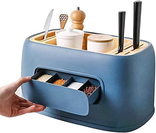 Kruidenrek Organizer Keuken Plank Organizer Bestek Mes Hakbord Houder Collectie-Functionele Keuken Organisator Opslag…