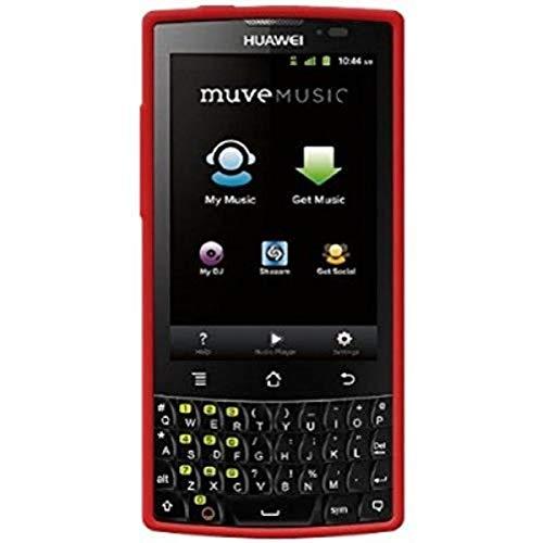 Amzer AMZ94565 Silikonhülle für Huawei Ascend Q M660/Cricket Huawei Ascend Q M660, Rot, 1 Stück