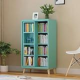 Bücherregale Holz Bücherregal Schiebetür Bücherregal Doppelregal Bücherregal Regalschrank Aktenschrank (mehrere Farben) Büromöbel (Farbe : B)