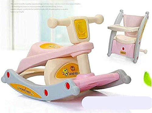 Baby Kunststoff Schaukelpferd Spielzeug, Esszimmerstuhl Kind Outdoor Rocker Tier Fahrt Kind Schaukeln Spielzeug Kind Rosa