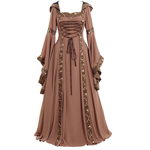 CosplayDiy Women's Maria Olive Green&Copper Victorian Dress Costume XXL