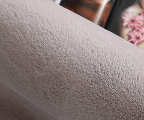 YAOUARP Hochwertige Polyester Teppich Plüsch Komfort Schminktisch Schlafzimmer Wohnzimmer Dekoration Runde Teppich rutschfest 2,4 Meter Durchmesser Rauch Lila Asche