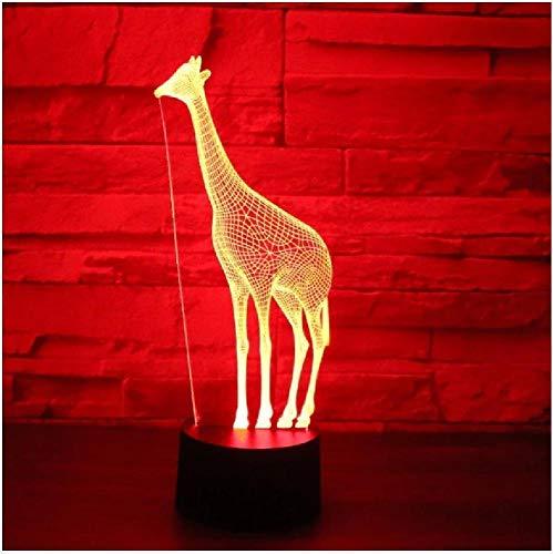 3D LED Luz de noche de la luz de la noche de los ciervos con 7 colores Luz para la lámpara de decoración del hogar Increíble visualización óptica impresionante