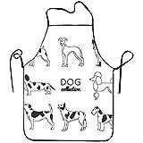 Set di Otto cani lineari cucina grembiule da cucina per Donne e uomini tracolla regolabile ristorante grembiule da cucina per la casa bavaglino per cucinare, Barbecue