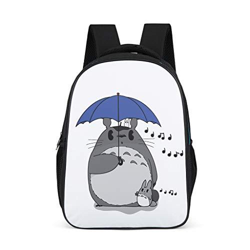 Lustig Totoro Beiläufig Rucksack Anime Totoro Ko Totoro Chuu Totoro Musiknoten Kunstwerk Druck Schultertasche für Teens Schultasche Tagesrucksack Reisetasche OneSize