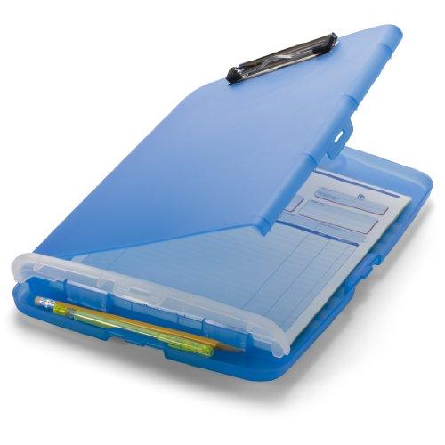 Officemate - Carpeta con cierre de clip, tamaño A4, color azul