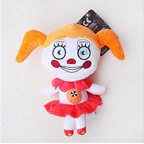 20cm FNAF Plush Toys Five Nights at Freddy's Sister Location Freddy Foxy Circus Baby Ballora Plush Stuffed Toys Doll for Kids FNAF Plushies-Gift for FNAF Fan (Baby)