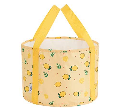 Kabinga Opvouwbare voetreinigingstas, draagbaar, voor buiten, citroengeel, Oxford Cloth, geel, M