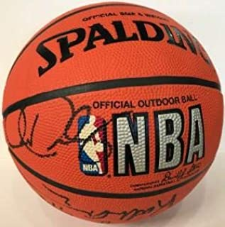 1996-97 Miami Heat Signed Spalding Basketball - Autographed Basketballs