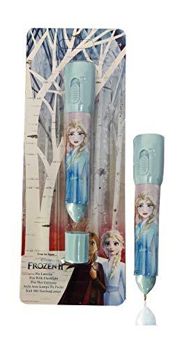 Bolígrafo Linterna Frozen 2 cuerpo lacado en turquesa brillante