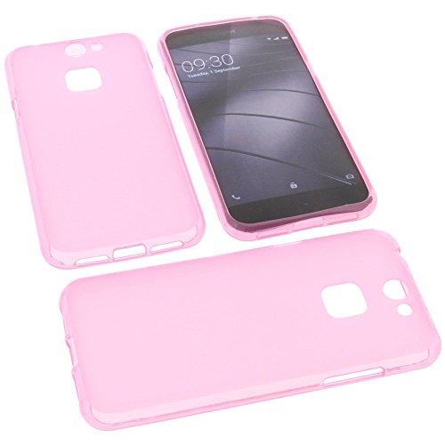 foto-kontor Tasche für Gigaset Me Pure Gummi TPU Schutz Handytasche pink