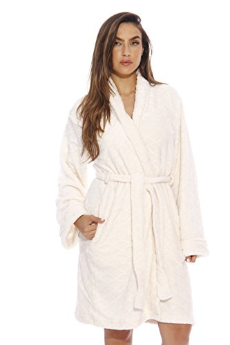 Just Love Kimono Robe / Bath Robes for Women, SizeLarge, Cream
