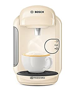 Tassimo Bosch TASSIMO Vivy 2 TAS1407GB Coffee Machine, 1300 Watt, 0.7 Litres - Cream