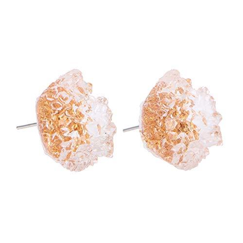 Happyyami 1 par de Pendientes de Cristal en Forma de Azúcar Pendientes de Mujer de Oro