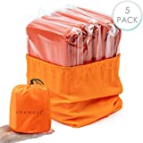 5 Premium Emergency Bivvy Bag - Survival Sleeping Bag, Emergency...