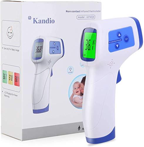 AGM Infrarot-Thermometer, berührungsloses digitales LCD-Handthermometer, genaue und schnelle Messtemperatur für Kinder, Erwachsene