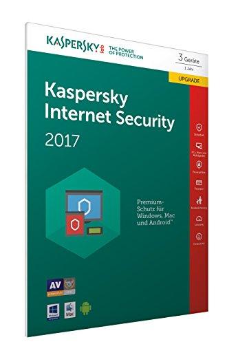 Preisvergleich Produktbild Kaspersky Internet Security Upgrade 2017 / 3 Geräte / 1 Jahr / PC / Mac / Android / Download