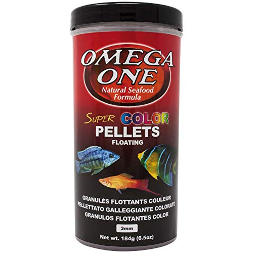 Omega One Super Color Floating Pellets, 3mm Pellets, 6.5 oz