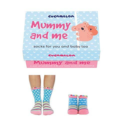 Cucamelon - Mummy and me - Je ein Paar Socken für Mama & Baby (0-12 Months) - getreift