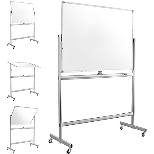 Mobile Dry Erase Magnetic Whiteboard-47'(W) x 36'(H) - Double Sided...